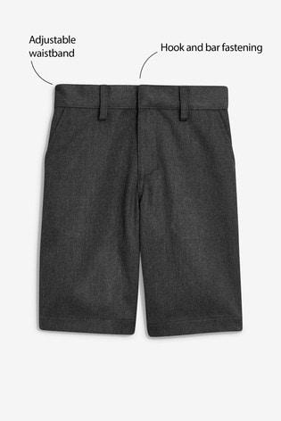 Grey Flat Front Shorts (3-12yrs)