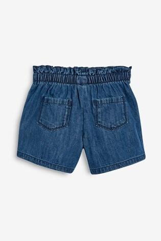 Dark Denim Bow Detail Shorts (3mths-7yrs)