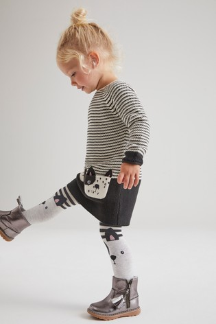Dog Character Jumper Dress And Tight Set (3mths-7yrs)