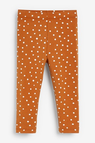Rust Spot Print Leggings (3mths-7yrs)