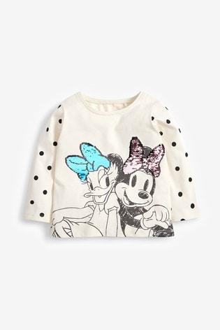 Minnie Mouse™ And Daisy Duck Spot Print Long Sleeve Top (3mths-7yrs)