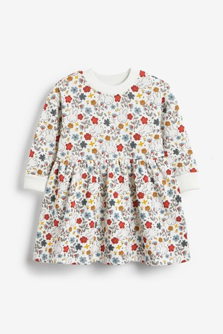 Multi Miffy Printed Long Sleeve Sweat Dress (3mths-7yrs)