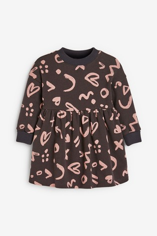 Charcoal Sweat Dress (3mths-7yrs)