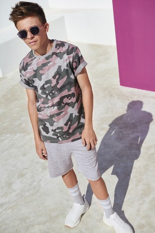 Grey Camouflage T-Shirt (3-16yrs)