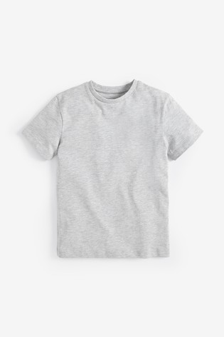 Grey Marl Crew Neck T-Shirt (3-16yrs)
