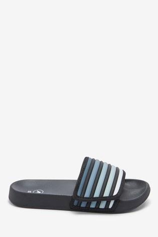 Black Touch Fastening Stripe Sliders (Older)