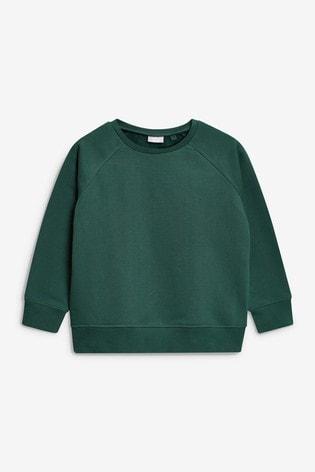Green Crew Neck Sweater (3-16yrs)