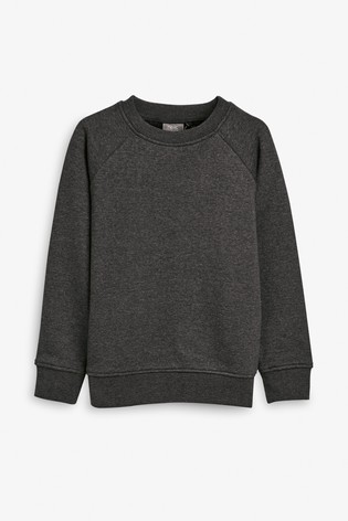 Charcoal Crew Neck Sweater (3-16yrs)