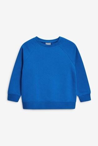 Blue Crew Neck Sweater (3-16yrs)