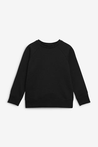 Black Crew Neck Sweater (3-16yrs)