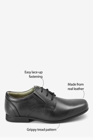 Black Standard Fit Leather Formal Lace-Up Shoes (Older)
