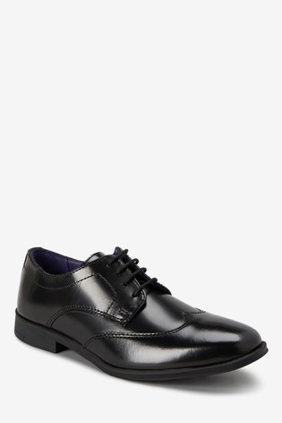 Black Leather Formal Lace-Up Shoes (Older)