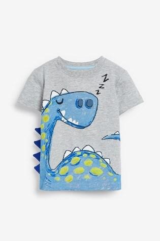 Blue 3 Pack Dinosaur Spikes Short Pyjamas (9mths-8yrs)