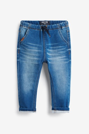 Mid Blue Super Soft Pull-On Jeans With Stretch (3mths-7yrs)