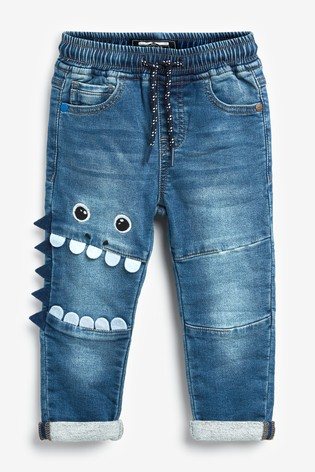Mid Blue Monster Character Jeans (3mths-7yrs)