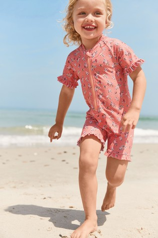 Pink Ditsy Sunsafe Suit (3mths-7yrs)