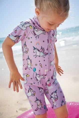 Lilac Unicorn Sunsafe Suit (3mths-7yrs)
