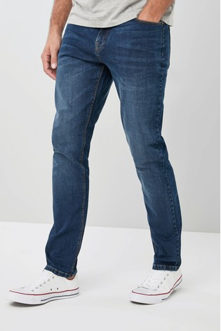 Mid Blue Slim Fit Jeans With Stretch