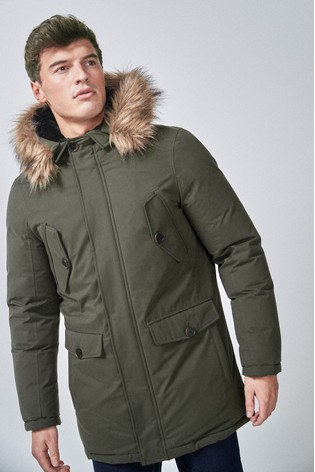 Khaki Signature Down Filled Parka