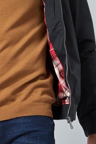 Buy Navy Shower Resistant Harrington Jacket from Next Austria