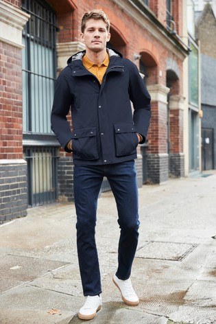 Navy Heritage Check Lined Mac