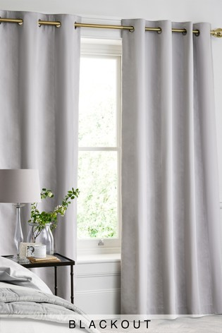 Cotton Waffle 300 Thread Count Blackout Lined Eyelet Curtains