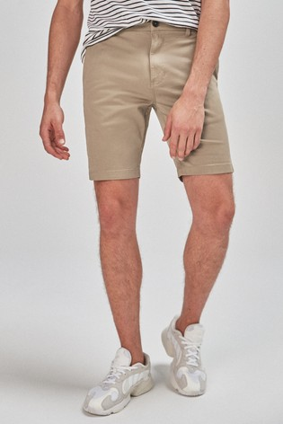 Wheat Slim Fit Stretch Chino Shorts