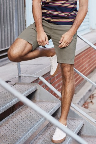 Light Khaki Slim Fit Stretch Chino Shorts