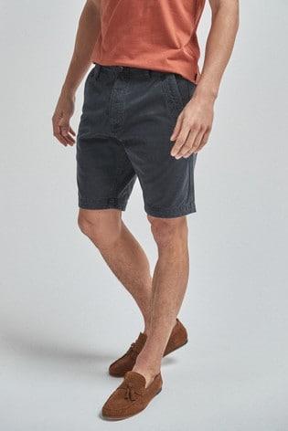 Navy Premium Laundered Chino Shorts
