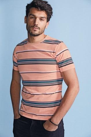 Pink Stripe Slim Fit T-Shirt