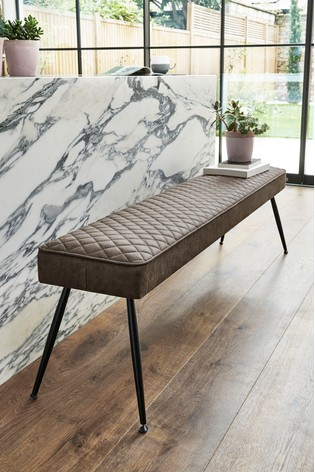 Hamilton Large Bench With Black Legs