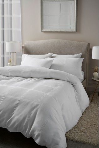 Square Waffle Duvet Cover And Pillowcase Set