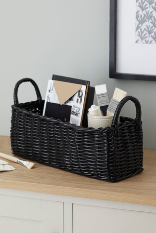 Plastic Wicker Tray Basket