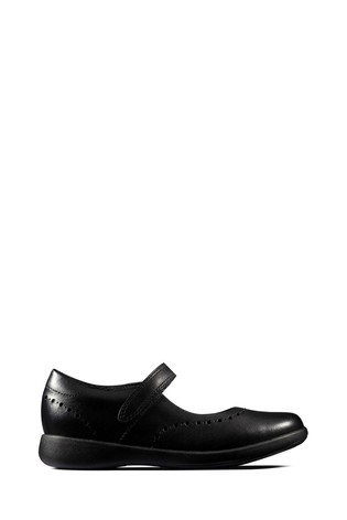 Clarks Kids Black Etch Craft Shoe