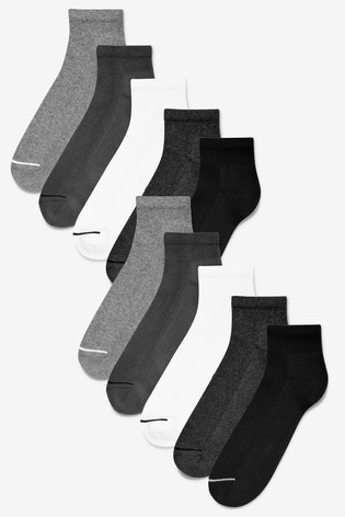 Mixed Mid Cut Sports Socks Ten Pack