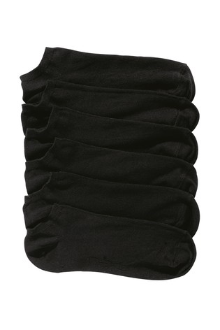 Black Trainer Socks Six Pack