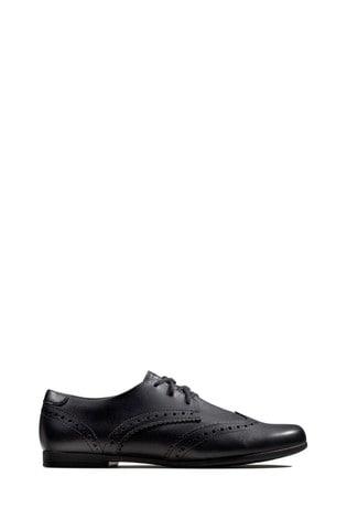 Clarks Black Scala Lace Shoe