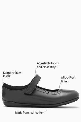 Black Leather Mary Jane Brogues (Older)