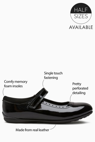 Black Patent Leather Mary Jane Brogues (Older)
