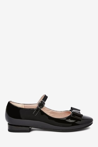 Black Patent Leather Bow Mary Jane Shoes