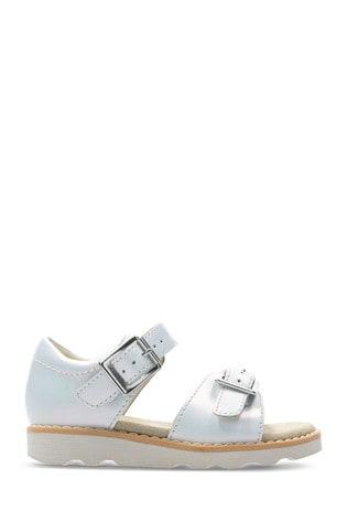 Clarks White Crown Bloom T Sandal