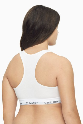 Calvin Klein White Modern Cotton Plus Bralette