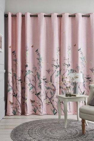 Oriental Garden Eyelet Curtains