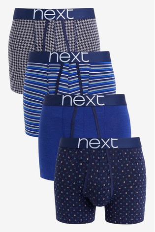 Signature Navy Pattern A-Fronts Four Pack