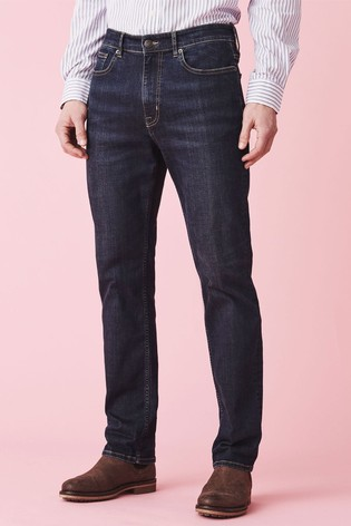 Crew Clothing Company Blue Parker Straight Jeans