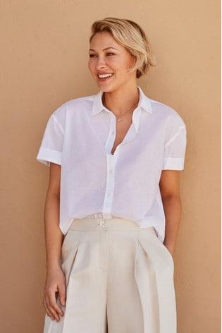 White Emma Willis Short Sleeve Shirt
