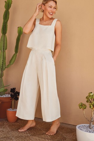 Ivory Emma Willis Co-ord Culottes