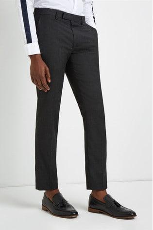 Moss London Skinny Fit Machine Washable Plain Trousers