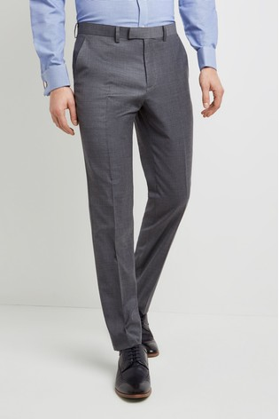 Moss 1851 Tailored Fit Grey Twill Trouser