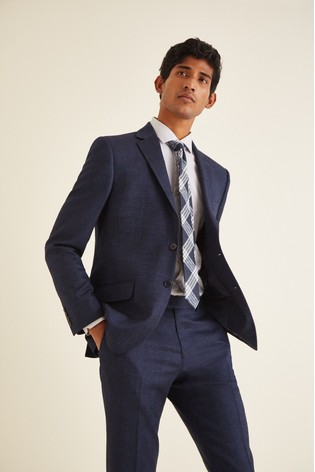 Moss London Blue Skinny Fit Twisted Suit